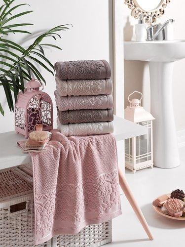 Набор полотенец для ванной 6 шт. Philippus CLARA хлопковая махра 70х140, фото, фотография