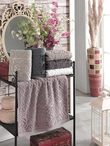 Набор полотенец для ванной 6 шт. Philippus DENISE хлопковая махра 70х140, фото, фотография
