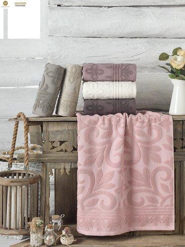Набор полотенец для ванной 6 шт. Philippus EDNA хлопковая махра 70х140, фото, фотография