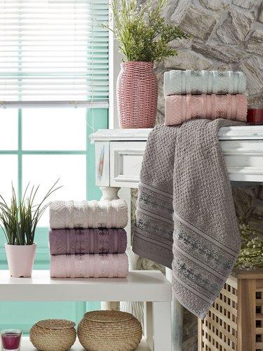 Набор полотенец для ванной 6 шт. Philippus VENEDIK хлопковая махра 50х90, фото, фотография