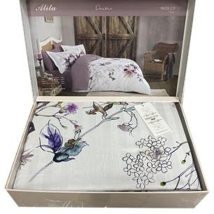Постельное белье Maison Dor ALITA хлопковый сатин фиолетовый евро