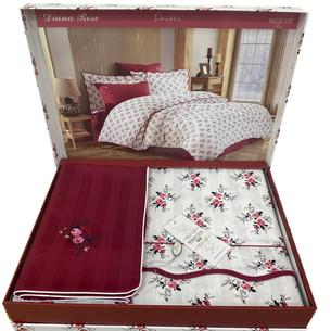 Постельное белье Maison Dor DIANA ROSE хлопковый сатин красный 1,5 спальный