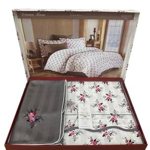 Постельное белье Maison Dor DIANA ROSE хлопковый сатин антрацит 1,5 спальный
