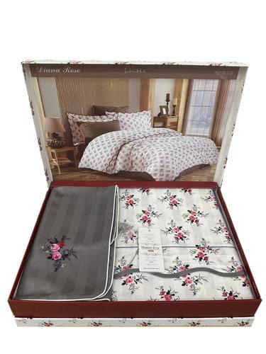 Постельное белье Maison Dor DIANA ROSE хлопковый сатин антрацит 1,5 спальный, фото, фотография