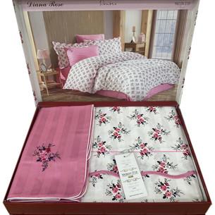 Постельное белье Maison Dor DIANA ROSE хлопковый сатин грязно-розовый 1,5 спальный