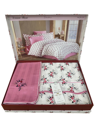 Постельное белье Maison Dor DIANA ROSE хлопковый сатин грязно-розовый семейный, фото, фотография