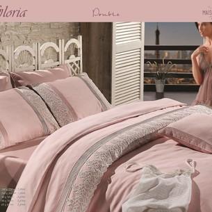 Постельное белье Maison Dor GLORIA хлопковый сатин грязно-розовый евро