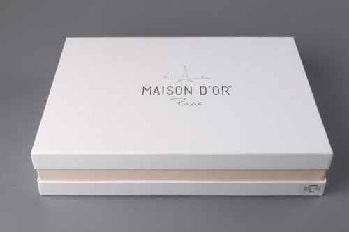 Постельное белье Maison Dor GLORIA хлопковый сатин фиолетовый евро, фото, фотография