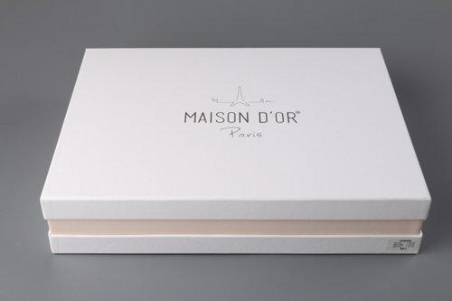Постельное белье Maison Dor HELENA хлопковый сатин белый евро, фото, фотография