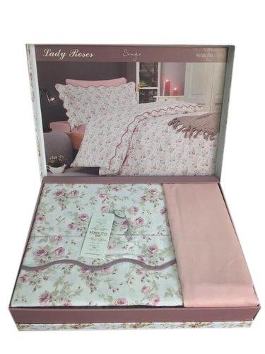 Постельное белье Maison Dor LADY ROSES хлопковый сатин грязно-розовый 1,5 спальный, фото, фотография