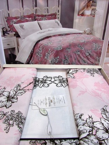 Постельное белье Maison Dor CLASSIC ROSE хлопковый сатин светло-розовый евро, фото, фотография