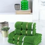 Набор полотенец для ванной EFOR хлопковая махра 50х90 2 шт., 70х140 2 шт. зеленый, фото, фотография