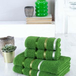 Набор полотенец для ванной EFOR хлопковая махра 50х90 2 шт., 70х140 2 шт. зеленый