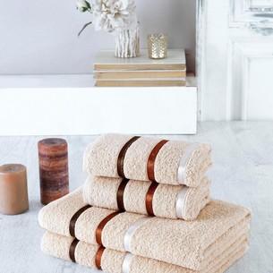 Набор полотенец для ванной EFOR хлопковая махра 50х90 2 шт., 70х140 2 шт. капучино