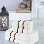Набор полотенец для ванной EFOR хлопковая махра 50х90 2 шт., 70х140 2 шт. кремовый, фото, фотография