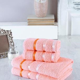 Набор полотенец для ванной EFOR хлопковая махра 50х90 2 шт., 70х140 2 шт. персиковый