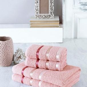 Набор полотенец для ванной EFOR хлопковая махра 50х90 2 шт., 70х140 2 шт. пудра