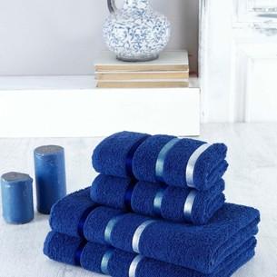 Набор полотенец для ванной EFOR хлопковая махра 50х90 2 шт., 70х140 2 шт. темно-синий