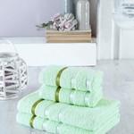 Набор полотенец для ванной EFOR хлопковая махра 50х90 2 шт., 70х140 2 шт. фисташковый, фото, фотография
