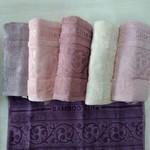Набор полотенец для ванной 6 шт. Efor BAMBO ELITE бамбуковая махра 50х90, фото, фотография