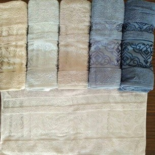 Набор полотенец для ванной 6 шт. Efor COOL хлопковая махра 70х140