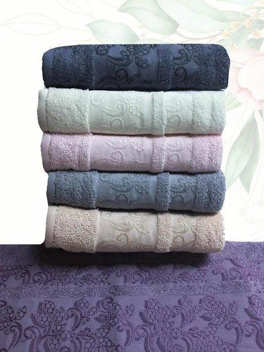 Набор полотенец для ванной 6 шт. Efor LEYLAK хлопковая махра 30х50, фото, фотография
