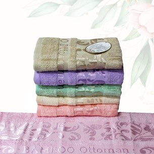Набор полотенец для ванной 6 шт. Efor OTTOMAN бамбуковая махра 70х140