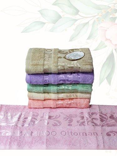 Набор полотенец для ванной 6 шт. Efor OTTOMAN бамбуковая махра 70х140, фото, фотография