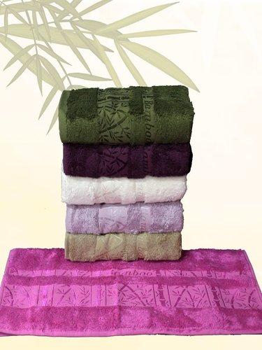 Набор полотенец для ванной 6 шт. Efor PALMIYE бамбуковая махра 70х140, фото, фотография