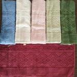 Набор полотенец для ванной 6 шт. Efor ZERON хлопковая махра 50х90, фото, фотография