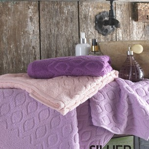 Набор полотенец для ванной 3 шт. Efor SILVER хлопковая махра 70х140