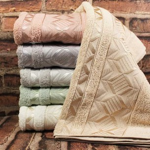Набор полотенец для ванной 6 шт. Karacan DIAMOND хлопковая махра 70х140