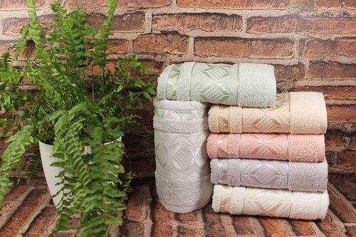 Набор полотенец для ванной 6 шт. Karacan DIAMOND хлопковая махра 70х140, фото, фотография