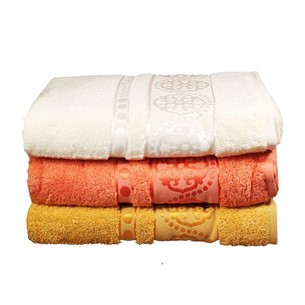 Набор полотенец для ванной 3 шт. Cestepe MICRO DELUX микрокоттон оранжевый, кремовый 70х140