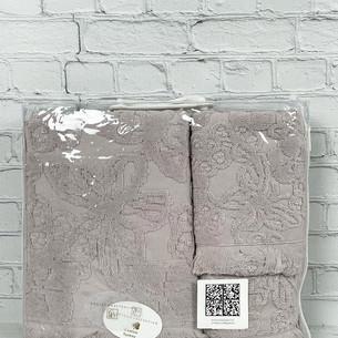 Набор полотенец для ванной 3 пр. Pupilla MAYA хлопковая махра сиреневый