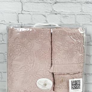Набор полотенец для ванной 3 пр. Pupilla MAYA хлопковая махра грязно-розовый