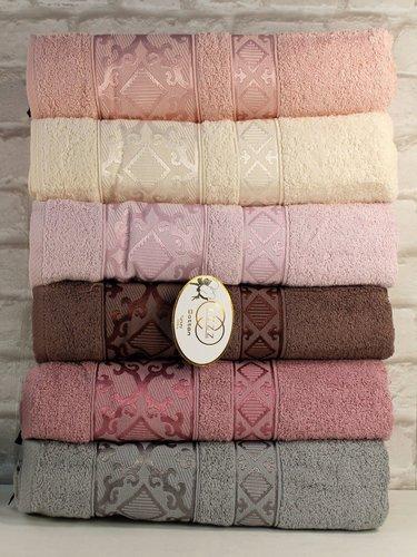 Набор полотенец для ванной 6 шт. Luzz SIRMA хлопковая махра 50х90, фото, фотография