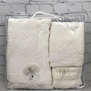 Набор полотенец для ванной 3 пр. Pupilla AMAZON хлопковая махра кремовый
