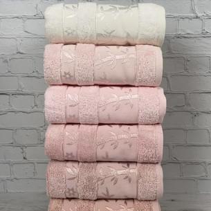 Набор полотенец для ванной 6 шт. Pupilla ELIT бамбуковая махра V1 50х90