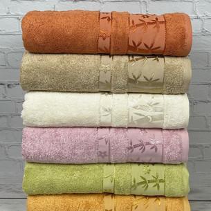 Набор полотенец для ванной 6 шт. Pupilla ELIT бамбуковая махра V2 70х140