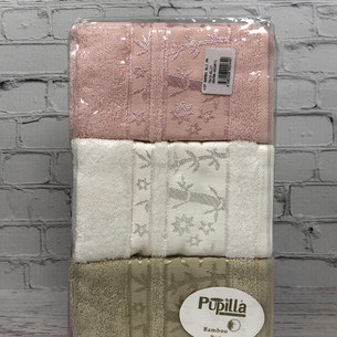 Набор полотенец для ванной 6 шт. Pupilla ELIT бамбуковая махра V3 30х50