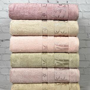 Набор полотенец для ванной 6 шт. Pupilla ELIT бамбуковая махра V3 70х140