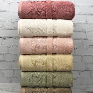 Набор полотенец для ванной 6 шт. Pupilla DESTAN бамбуковая махра 50х90