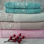 Набор полотенец для ванной 4 шт. Ozdilek ELENOR хлопковая махра розовый 100х150, фото, фотография