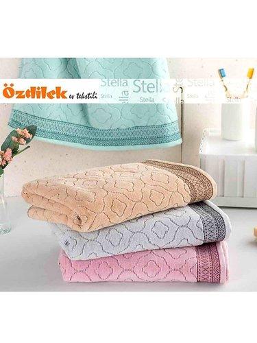 Набор полотенец для ванной 6 шт. Ozdilek STELLA хлопковая махра бежевый 50х90, фото, фотография