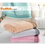 Набор полотенец для ванной 6 шт. Ozdilek STELLA хлопковая махра серый 70х140, фото, фотография