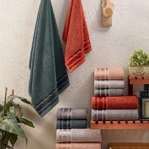 Набор полотенец для ванной 6 шт. Sikel ALYA хлопковая махра 50х90