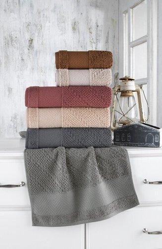 Набор полотенец для ванной 6 шт. Sikel BRUSHKA хлопковая махра 70х140, фото, фотография