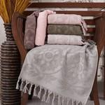 Набор полотенец для ванной 6 шт. Sikel BURBERY хлопковая махра 70х140, фото, фотография