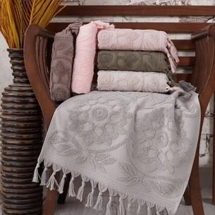 Набор полотенец для ванной 6 шт. Sikel BURBERY хлопковая махра 70х140